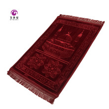 2017 hot selling good looking soft muslim prayer mat