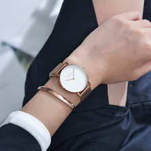 Minimalist select mesh steel band japanese movement quartz watches ladies