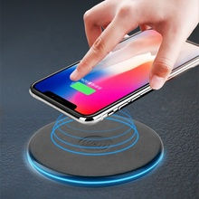 Amazon Hot Selling Wireless Charger with LED Light Luxury Charging Charger Wireless