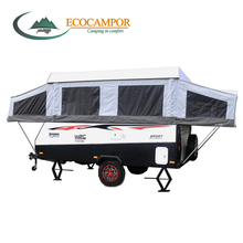 Hot sale Mini off road pop up caravan and camper trailers with tent