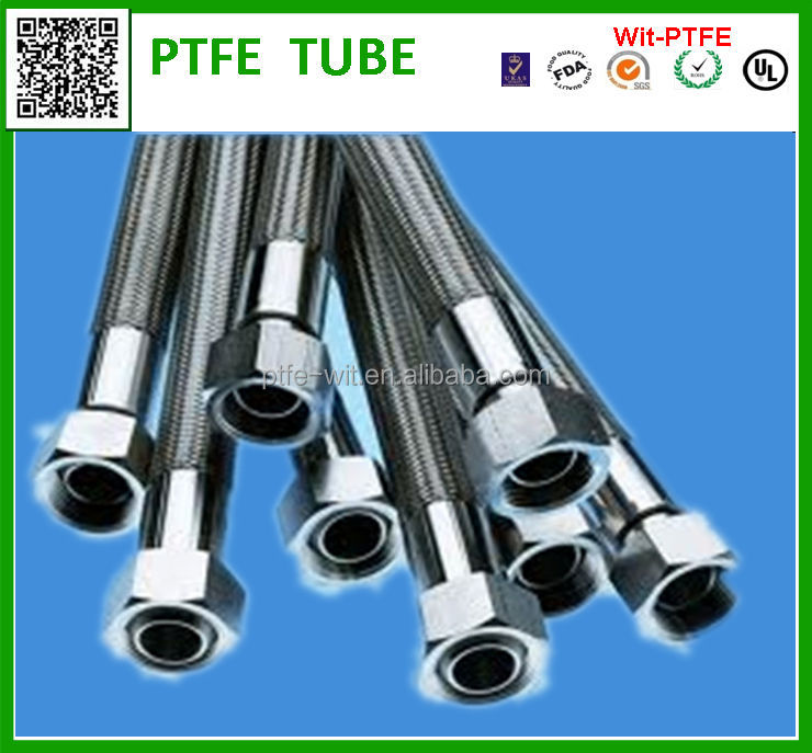 hot sale high quality stainless steel braided teflon <strong>hose</strong>