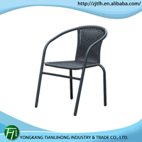 Patio Easy Cleaning outdoor stacking rattan chair with aluminum frame