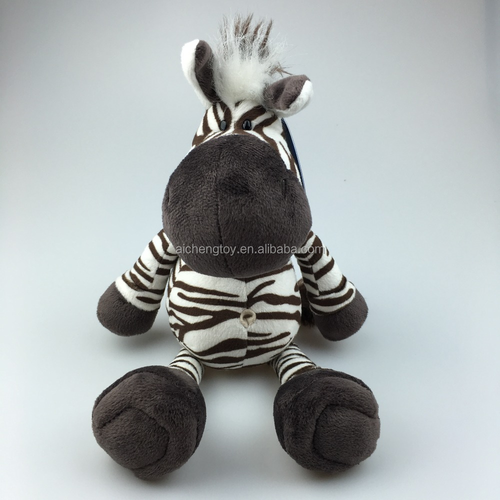25cm plush animal zebra stuffed toys for sale /CE testing 25cm plush zebra toys