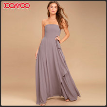 Floor length woman maxi dress strapless gown party wear long one piece dress