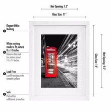 Wall Hanging Home Decoration Wooden Picture Photo Frame with Glass Front for Pictures 8x10 with Mat or 11x14 Without Mat