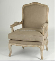 RCH-4029-1 French Style Single Upholstory Sofa Chair Vintage Wooden Sofa Armchair