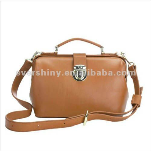 New Lady Hobo PU leather handbag 2012 shoulder bag Black