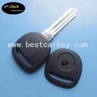 Cheaper price car blank key shell for gm transponder key shell with circle + on the blade