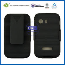 C&T Black flip mobile phone covers for samsung s5360 galaxy y