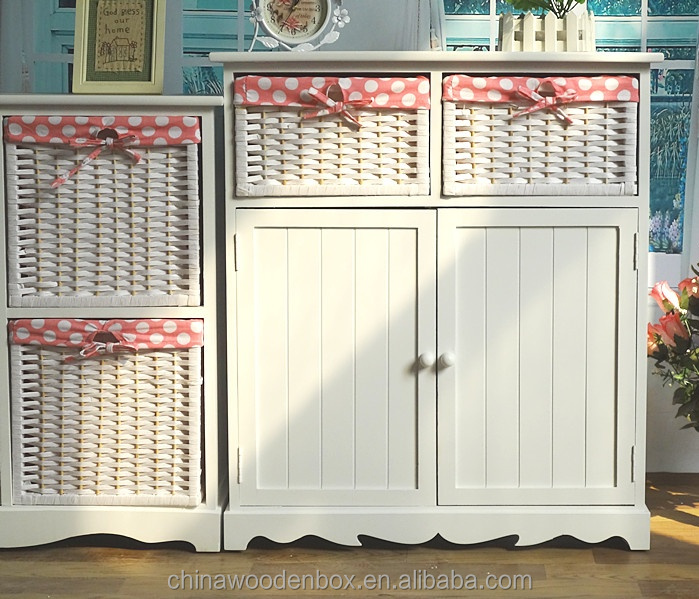 Wooden cabinet designs wooden cabinet with wicker basket