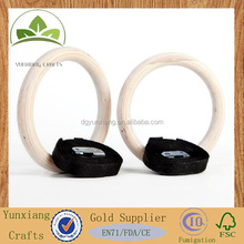Wooden gymnastic ring body building equipment hanging ring