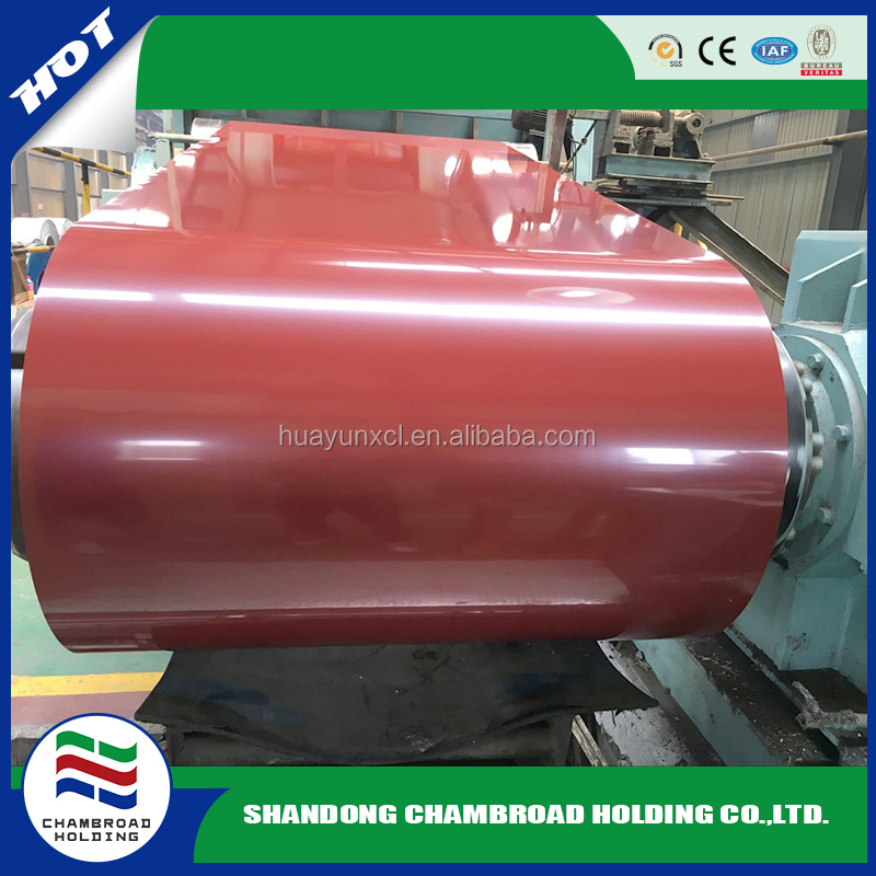 Prepainted GI steel coil / PPGI / PPGL color coated galvanized steel sheet in coil from Shandong