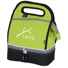 Portable Double Decker Toddler Insulated Cooler Lunch Bag