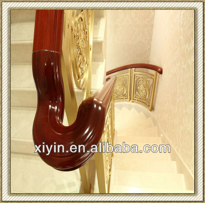 wood handrail for staircase top part