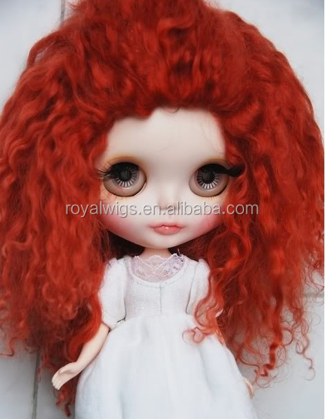 Fashion style wholesale 2015 Best prices High quality Angora mohair doll wig