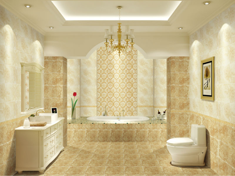 Non slip acid resistant 20x20 beige ceramic bathroom and kitchen wall tile vitrified tiles with price