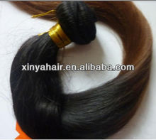 100 Genuine Glossy Silky natural looking two tone indian hair weaving