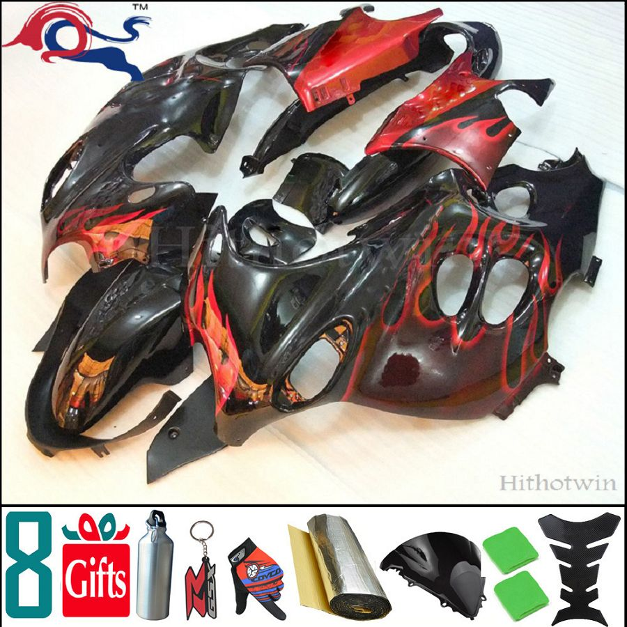 manufacturer customize 8Gifts+ GSX600F 2003 2004 2005 2006 GSX750F red flames motorcycle fairing for Suzuki 03 06 04 05 Katana