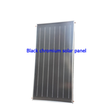Black Chromium solar thermal panel with flat plate