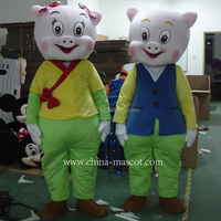 pig father and mother cartoon costume