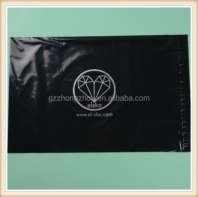 Guangzhou manufacturer wholesale custom printing black mailing bag,poly mailer