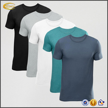 Ecoach high quality Crew neck blank 94% cotton 6% elastane skin tight fit muscle t shirt