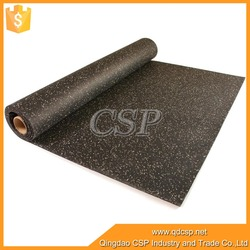 black with color EPDM dots outdoor rubber flooring for garages