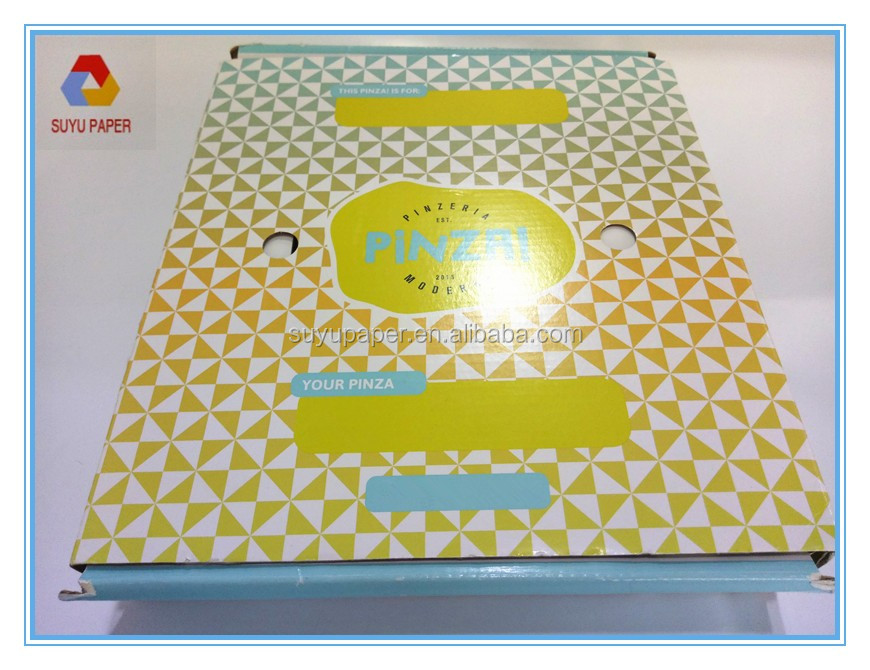 Brown cardboard paper hign quality reusable pizza box for Italy with aluminum foil