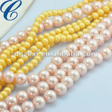 CZX12120 Wholesale plastic pearl strands 32""