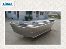 China Manufacturer 14ft Full Welded Aluminum Fishing Boat For Sale