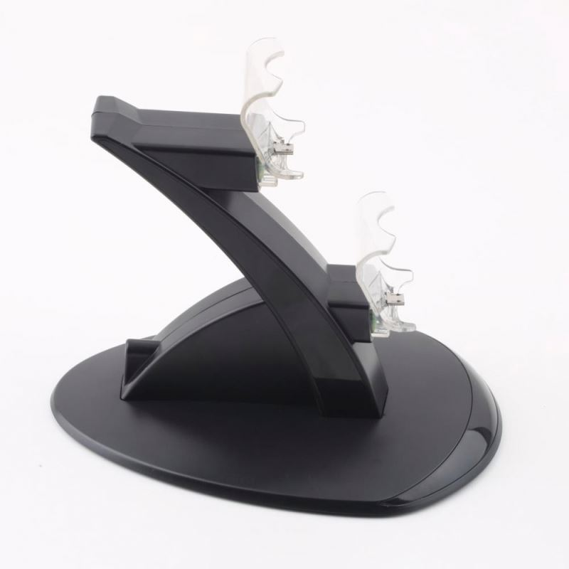 LED Dual USB Controller Charging Dock Station Cradle Stand Chargers for Sony Playstation 4 Console PS4 Game Gaming Controllers