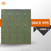 2015 Hot Product with Best Quality 16 Doors Antique Steel Locker/Steel Cabinet Clothes Locker Metal Closet Wardrobe