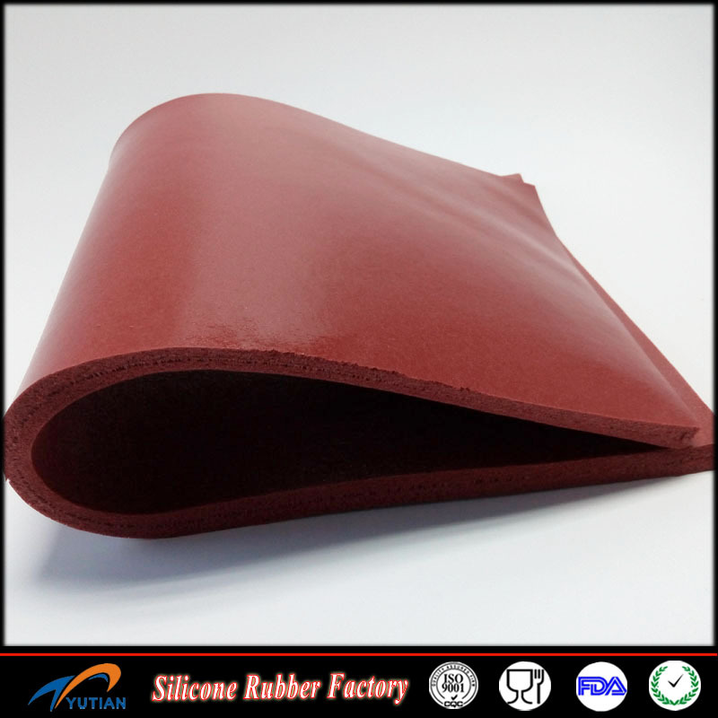 Low compression shock proof silicone rubber sponge sheets