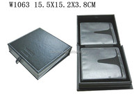 Fashion Leather Wooden Gift Packaging Box For CD W1063