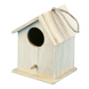 eco-friendly small unfinished natural wood wooden bird house