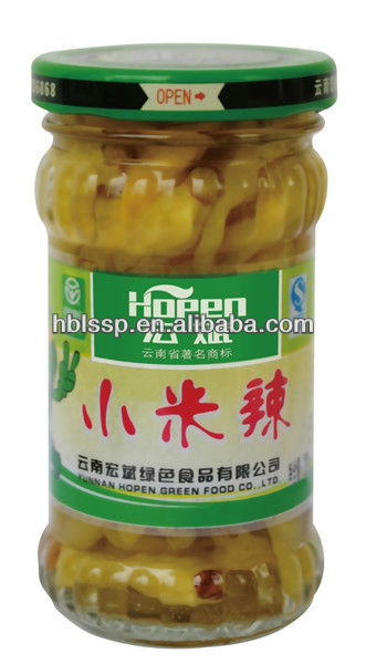 pickled green pepper chilli