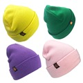 Fashion knit bobble winter beanie hat