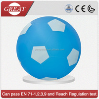 Pvc inflatable sport ball/plastic air football/pvc plastic soccer ball