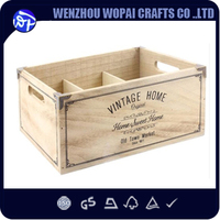 6 vintage Bottles French Wood Wine Box Case Rack Carrier