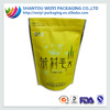 China supplier!reseable stand up plastic food packaging bag for tea