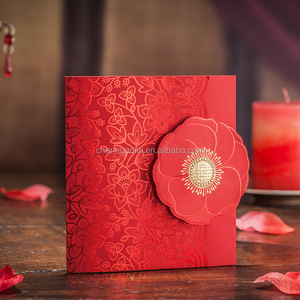 Luxurious wedding invitation card hindu wedding card design