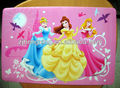 princess printed pvc plastic placemats for children