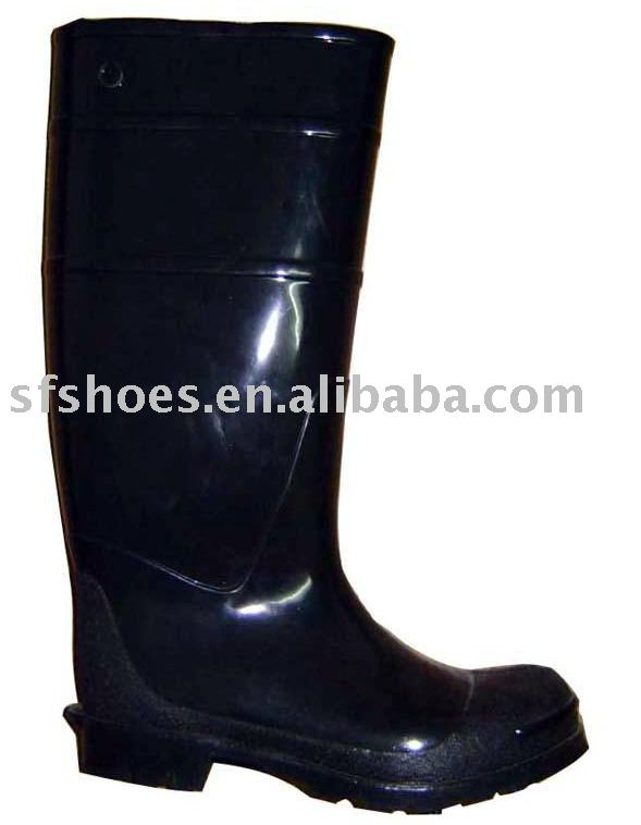 100% waterproof and durable pvc/nitrile rubber safety boots