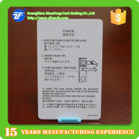 Security system RFID T5577 pvc hotel key cards