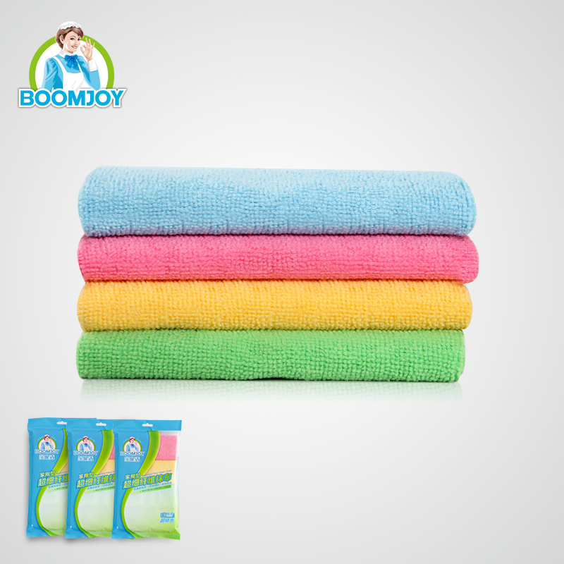 HIGH QUALITY 4 COLOR HOME USE SUPERFINE KITCHEN AND FURNITURE CLEAN MICROFIBER CLOTH