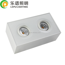cct adjustable lepu double head ceiling surface downlight warm dim 0-100% dimming 2018 new design for europe market fast instal