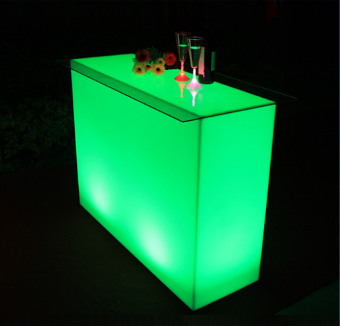 fashion design 16 colors changing small bar counter designs outdoor led bar counter