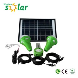 Small portable solar home kit 9w