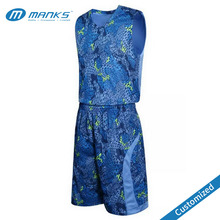 Custom Digital Sublimated Camo Dry Fit Polyester Basketball Uniforms