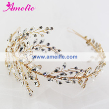 Women's Girl's Rhinestone Wedding Mermaid Hair Accessories in Silver and Gold